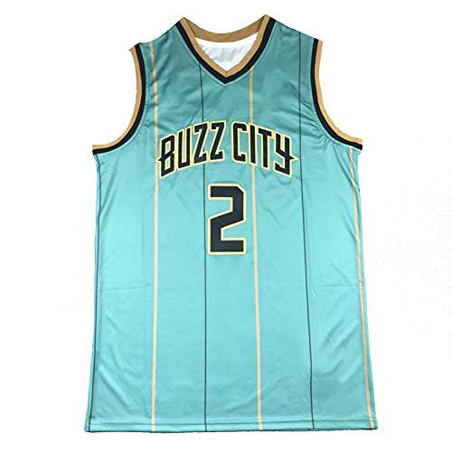 WXZB Pelicans - Camiseta de baloncesto (2 #, ropa deportiva, letras bordadas y números, regalos para fanáticos, color verde oscuro-L