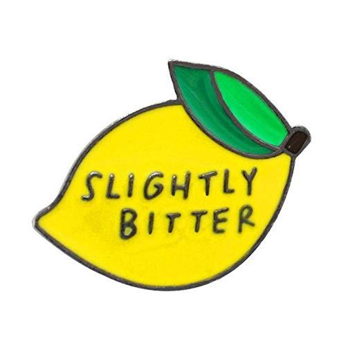 SUZHENA Broche Broche de limón Fruta Fresca Amarilla Fácil de Guisante Limón exprimido Pin de Esmalte Pinzas Broches Insignias de Esmalte Chaqueta Bolsa, 1 Piezas