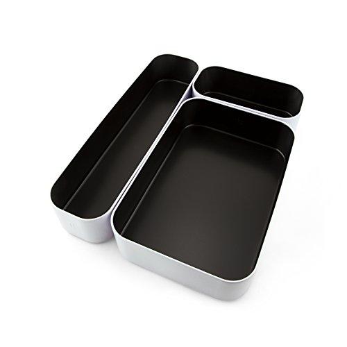 Three By Three Seattle 52275 - Cajonera apilable, color negro