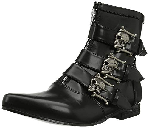 Pleaser Men's Brogue-06 Boot,Black Nappa Polyurethane,8 M US
