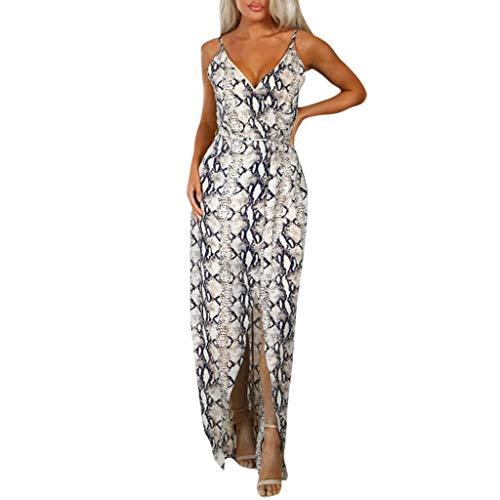 Big Sale YetouWomen Half Sleeve Color Block Multicolor Loose Bohe Beach Long Robe Cotton Printed Dress Khaki