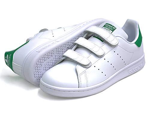 [アディダス] スタンスミス ベルクロ STANSMITH CF J スニーカー レディース ホワイト/グリーン 白 緑 S82702 25.0cm(US6H) [並行輸入品]