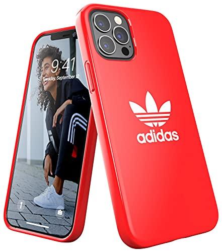 adidas Custodia progettata per iPhone 12 / iPhone 12 Pro 6.1, custodia testata, bordi rialzati antiurto originale, colore: rosso scarlatto