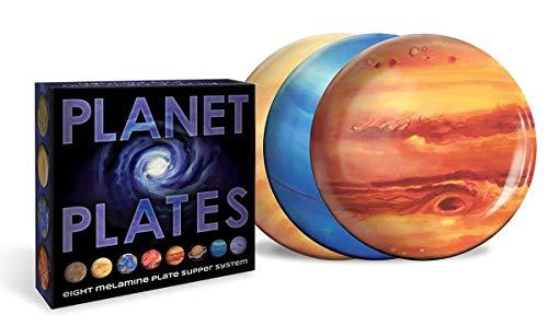 Lot de 8 assiettes motif planètes
