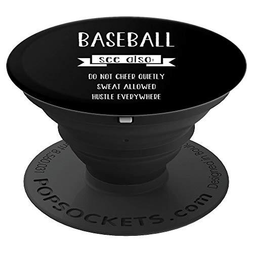 Baseball Sayings Dictionary Define Funny Christmas Gift - PopSockets Ausziehbarer Sockel und Griff für Smartphones und Tablets