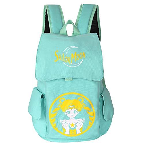 Innturt Classic Anime Canvas Backpack Rucksack Bag School Backpack Sailor Moon (Blue)