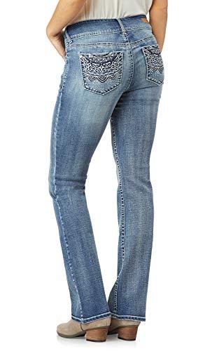 WallFlower Women's Juniors Luscious Curvy Bling Bootcut Jeans in Primetime, 7