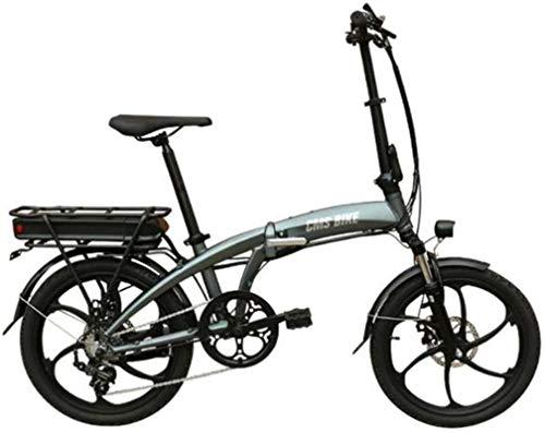 Bici electrica, Bicicleta eléctrica plegable de 26 pulgadas bicicleta eléctrica de gran capacidad de iones de litio (48V 350W 10.4a) de la ciudad de bicicletas Velocidad máxima 32 kilometros / H Capac