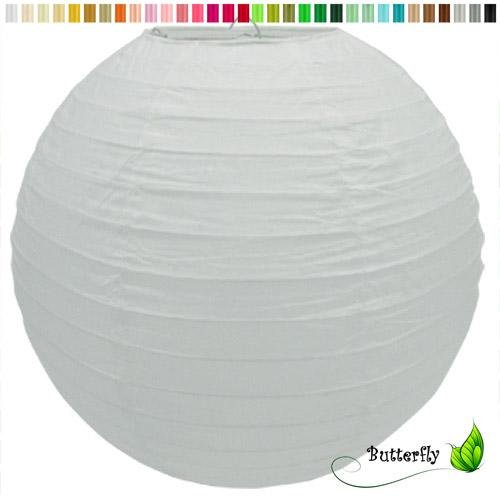 Creativery Papier Lampion 25cm (weiß 029) // Laterne Hochzeit Party Wohnungsdeko Hängedeko Raumdeko Geburtstag Party Feier