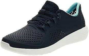 Crocs Women's LiteRide Pacer Sneakers, Navy/Ice Blue, 9