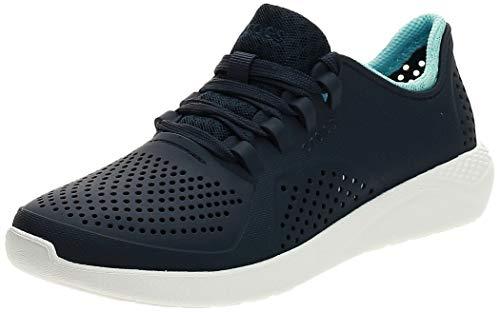 Crocs Women's LiteRide Pacer Sneakers, Navy/ice Blue, 7 Women