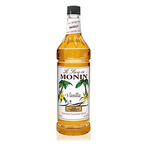 Monin - Vanilla Syrup, Versatile Flavor, Great for Coffee, Shakes, and Cocktails, Gluten-Free, Non-GMO (1 Liter)