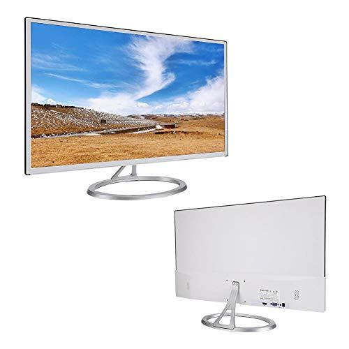 Diyeeni Monitor Curvo de 27 Pulgadas (3000R, Tiempo de Respuesta de 8 ms, 1920 x 1080 píxeles, Full HD, HDMI, VGA) Monitor de PC para Juegos, Negocios(Plata)