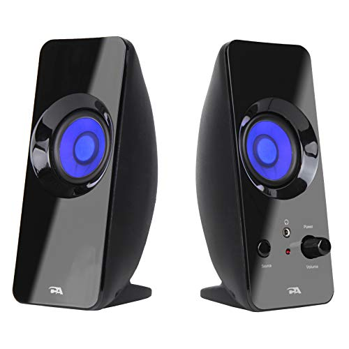 Cyber Acoustics 2.0 Lighted Bluetooth Speaker System - USB or AC Powered (CA-2806BT)