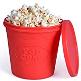Microwave Popcorn Popper, Replaces Microwave Popcorn Bags, Enjoy Healthy Air Popped Popcorn - No Oil Needed, BPA Free Premium European Grade Silicone Popcorn Maker