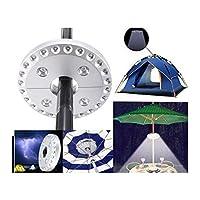 傘ランプ、28 LEDパラソルランプ、3モードワイヤレスライト、ガーデンパティオ屋外活動パラソルランプ