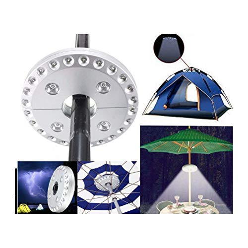 Wopohy Parasol Light 1 Piece 28 LEDs Parasol Lighting Lamp Tent Lamp for Outdoor Camping and Fishing