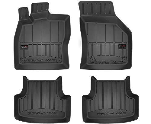 Frogum Alfombrillas de Goma 3D Pro-Line compatible con Seat Leon III Desde 2012 / compatible con VW Golf VII 2012-2019 / compatible conT-Roc Desde 2017