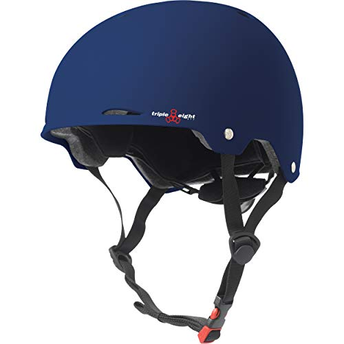 Triple Eight Gotham Dual Certified Skateboard and Bike Helmet Blue Matte Small / Medium