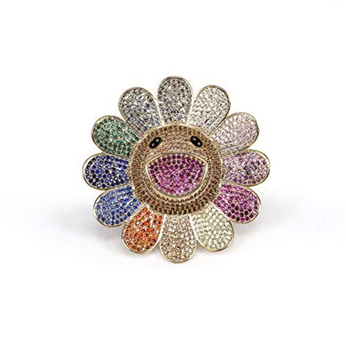 Pin Spilla Europei e Americani Romantico Girasole di Alta qualità Personalizzati Diamante di Girasole Fiore Abbigliamento Corsage per Le Donne