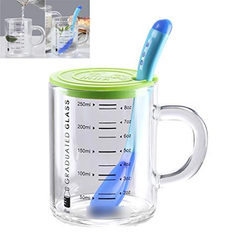 PLHMS Borosilicaat Glazen Meetbeker, met Tuit, Multi-Purpose Vloeistof en Droge Creamer Pitcher, voor Zelfgemaakte Sap & Iced Tea of voor Glazen Melkflessen