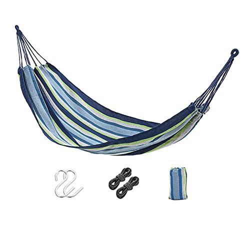 Al Aire Libre Portátil Camping Hamaca,Supervivencia Jardín Mueble Ocio Dormir Viaje Doble Paracaídas Cama Colgante,Azul