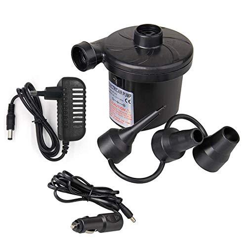 Froadp Elektrische Luftpumpe mit 3 Aufsätze Gebläsepumpe Luftmatratze Pumpe für Planschbecken Pools Boot Camping(Type A)