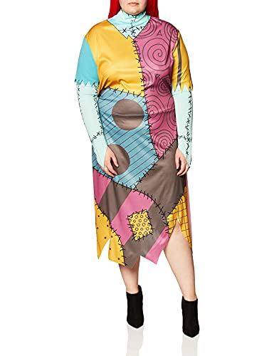 Disney womens Disguise the Nightmare Before Christmas Sally Classic adult sized costumes, Yellow/Red/Black/Green, XL 18-20 US