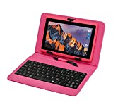 Tablette Tactile Ecran 7 Pouces, Tablet PC avec Clavier(AZERTY) Android Quad Core...