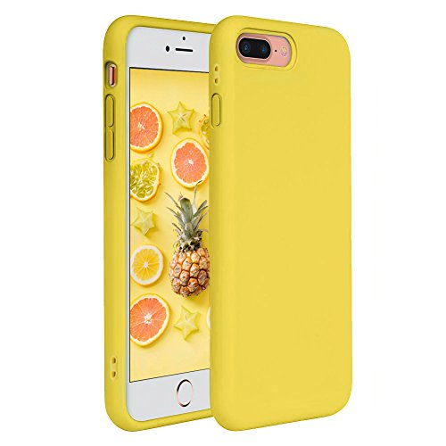 iPhone 7 Plus Case, iPhone 8 Plus Case, Pelipop Colorful Yellow Slim Fit Anti-Scratch Soft TPU Gel Silicone Skin Frosted Protective iPhone Cover for iPhone 7 Plus/iPhone 8 Plus(Yellow)