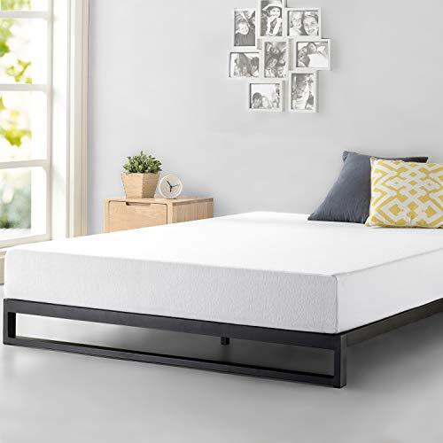 Zinus Cama de plataforma resistente y de perfil bajo Trisha de 17,8cm, Base para colchón, Sin necesidad de usar un somier, Sólido soporte de listones de madera, Fácil montaje, 150 x 190 cm