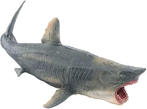 Pressure Plastic Shark Model Lifelike Megalodon Shark Ocean Animal Craft Ornament Sea Fish Education Cognitive Toy for Children