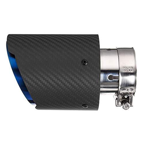 KPLDEKLC Tubo di Scarico per Auto , 63mm ~ 101mm Tubi di Scarico per Auto in Fibra di Carbonio Tubi di Scarico per marmitta Punta di Coda Marmitta per Tubo in Acciaio Inossidabile
