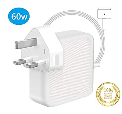 TOPSELL Compatible With MacBook Air Charger, Works With 60W Magsafe 2 T-Tip Power Adapter Charger for Macbook Pro with 13-inch And MacBook Air 11-inch & 13-inch LATE 2012