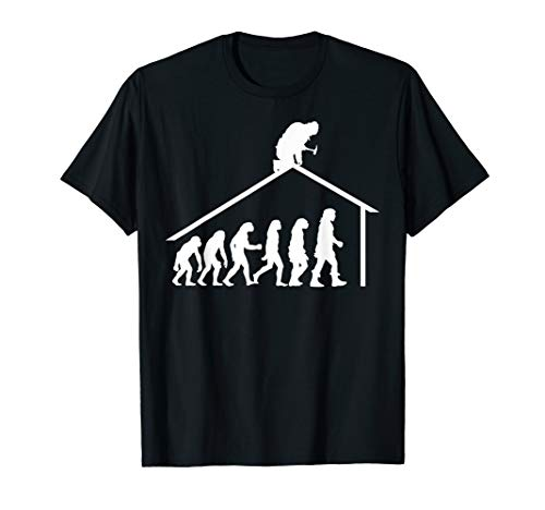 Dachdecker Schreiner Zimmerer Shirt Evolution Held Haus T-Shirt
