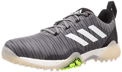 Adidas Herren Golfschuhe CodeChaos, wasserdicht, ohne Spikes, Herren, Grau/Weiß/Schwarz, 10 UK/ EUR 44.7 / US 10.5