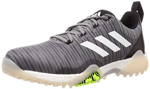 Adidas Golf Herren CodeChaos Wasserdichte Performance Spikeless Golfschuhe, Herren, Grau/Weiß/Schwarz, 9 UK/ EUR 43.4 / US 9.5