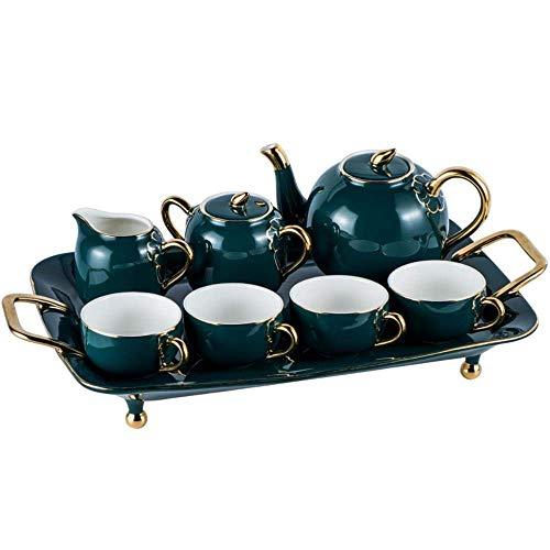 Reeks van de Koffie Britse porseleinen theeservies Keramisch Pot Creamer Sugar Bowl Teatime Theepot Kop van de Koffie, B Style LMMS (Color : A Style)