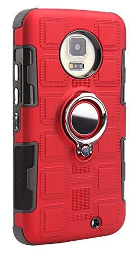 """Grandcaser Capa para Moto X4 Ultra Fina Armadura 2 em 1 Dupla Camada Híbrida À Prova de Choque 360° Capa de Proteção Magnética para Motorola Moto X4 5,2"""" – Vermelho"""