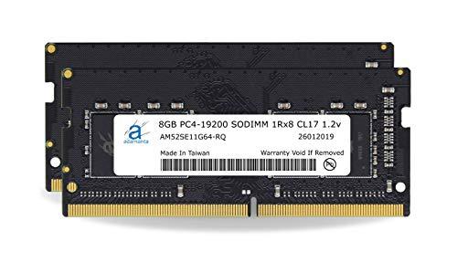 Adamanta 16GB (2x8GB) Laptop Memory Upgrade Compatible for Dell Alienware, G-Series, Inspiron, Latitude, Optiplex, Precision, Vostro & XPS DDR4 2400Mhz PC4-19200 SODIMM 1Rx8 CL17 1.2v RAM DRAM