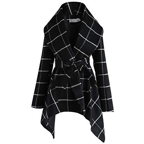 DISCOUNTL Abrigo de lana largo para mujer, con chaqueta a cuadros, disfraz de árbol de Navidad, disfraz para adultos, disfraz de Navidad, Pesadilla antes de Navidad