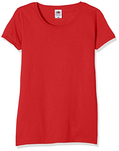 Fruit of the Loom Ss129m, Camiseta Para Mujer, Rojo (Brick Red), XL (Talla fabricante 16)