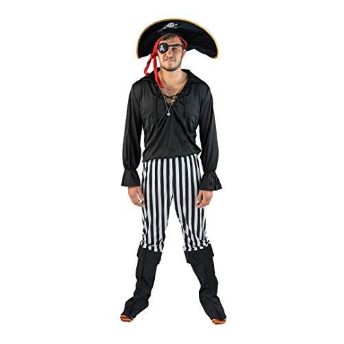 Bodysocks® Disfraz de Pirata Negro