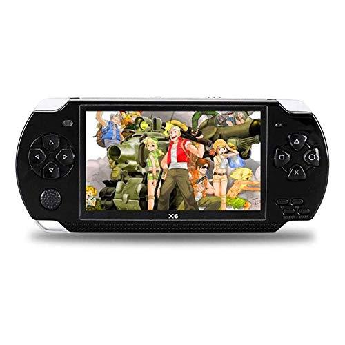 QCHEA Mini Consola de Juegos de Mano, Consola de Videojuegos portátiles 8GB, 4.3'Pantalla incorporada en 2000 Juegos clásicos, para Regalos de cumpleaños para niños niños Adultos