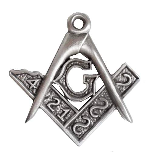 1000 Badges Masonic Square and Compass Discreet-Sized Pewter Wall Plaque