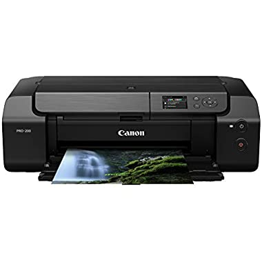 Canon PIXMA PRO-200 Wireless Professional Color Photo Printer, Prints up to 13″X 19″, 3.0″ Color LCD Screen, & Layout Software and Mobile Device Printing, Black