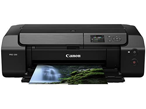 "Canon PIXMA PRO-200 Wireless Professional Color Photo Printer, Prints up to 13""X 19"", 3.0"" Color LCD Screen, & Layout Software and Mobile Device Printing, Black"