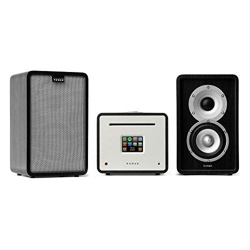 NUMAN Unison Retrospective 1979 S Edition mit Cover grau - Stereoanlage, Verstärker, Lautsprecher, 2 x 40 W, UNDOK-App, Spotify-Connect, WLAN, UKW, DAB+, Bluetooth, TFT-Display, schwarz