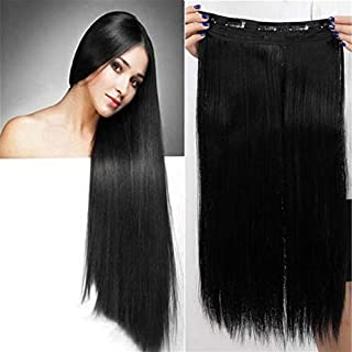 RemeeHi 100% Remy Hair One Piece 5 Clips in Straight Hair Human Hair Extension Beauty High Quality Hair Extension 80g 25cm 18 Inch Per Pack 18# Dark Ash Blonde