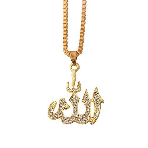 Urbanice Halskette mit Anhänger Allah Diamanten Islam Muslime (Trap)